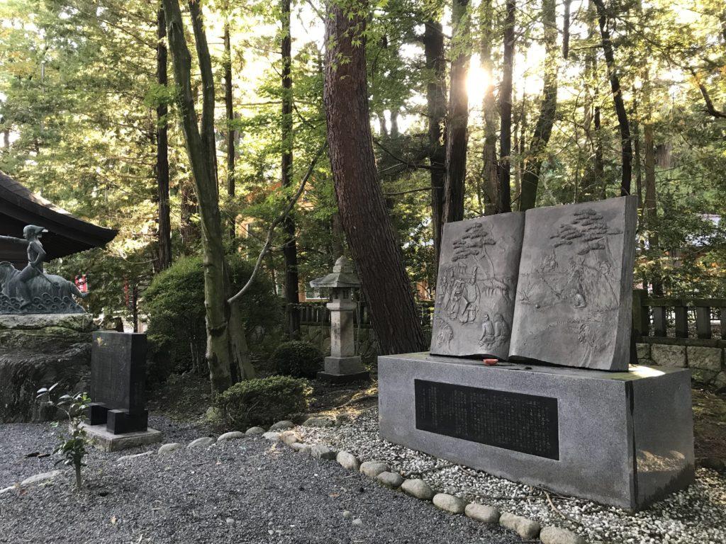 長野県安曇野市穂高神社の石碑