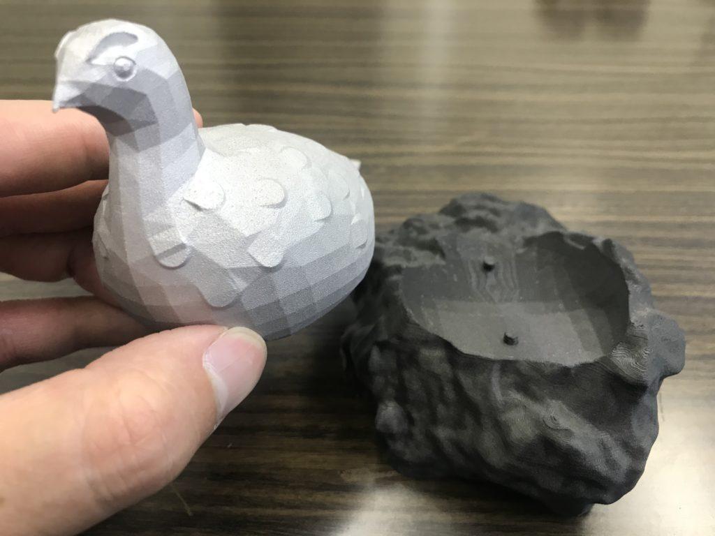 金属3Dプリンターで造形した雷鳥