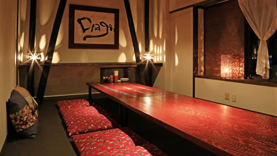 松本市にある中華料理屋九龍の店内の写真