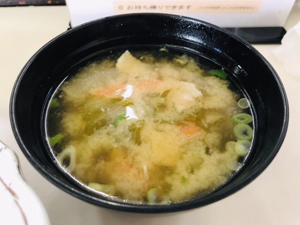 松本市のキッチン南海の豚汁の写真