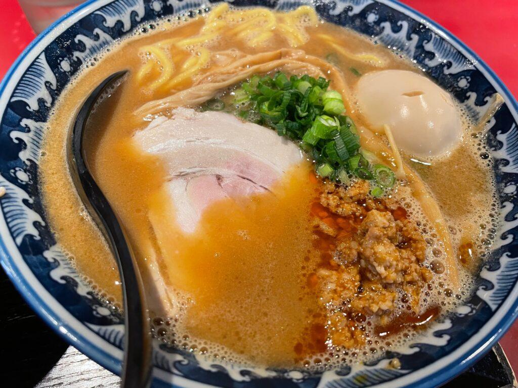 松本の味噌ラーメン屋佐蔵のラーメンの写真