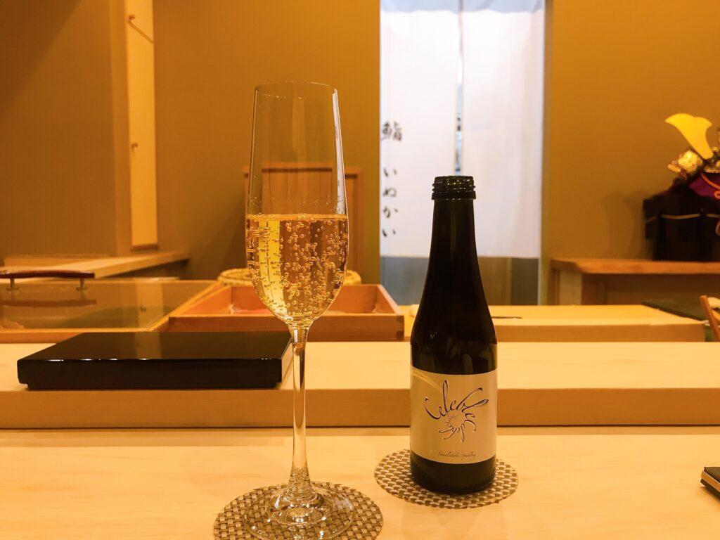長野県松本市の寿司屋いぬかいの美味しそうなお酒の写真
