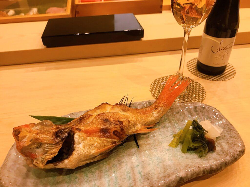 長野県松本市の寿司屋いぬかいの美味しそうなのどぐろの写真